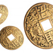 Chinese coins of happiness. — Stock Photo