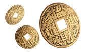 Monedas chinas de la felicidad. — Foto de Stock