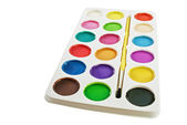 Watercolor paints. — Stock Photo