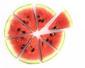 Pie chart of watermelon slices — Stock Photo