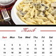 Stock Photo: Monthly PastCalendar. March 2012
