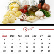 Stock Photo: Monthly PastCalendar. April 2012