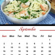 Stock Photo: Monthly PastCalendar. September 2012