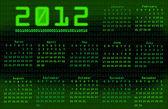 Calendrier 2012 de la code binaire — Photo