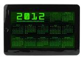 Binary code calendar on tablet — Stock Photo
