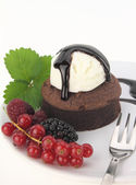 Chocolade souffl — Stockfoto