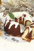 Traditional Christmas cake — Stock Photo
