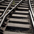 Stock Photo: Railroad Track Curve