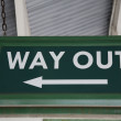 Way Out Sign — Stock Photo #6879827