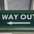 Way Out Sign — Stock Photo