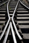 Railroad Track Junction — Stock Photo