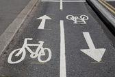 Cykel lane symboler — Stockfoto