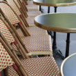 Cafe Table and Chairs in Paris — Stock Photo