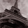 Royalty-Free Stock Photo: Eiffel Tower in Black and White, Paris