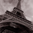 Eiffel Tower in Black and White, Paris — Stock Photo