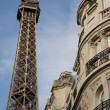 Stock Photo: Eiffel Tower and Building in Paris