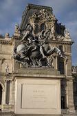 Louis XIV Statue at Louvre Art Museum, Paris — Stock Photo