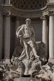 Neptune on the Trevi Fountain, Rome — Stock Photo