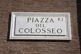Colosseum kare işareti — Stok fotoğraf