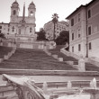 Spanish Steps in Rome, Italy - Stock Photo