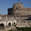 Stock Photo: Sant Angelo Castle and Bridge, Rome