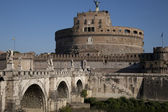Sant Angelo Castle and Bridge, Rome — Stock Photo