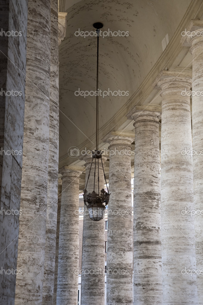 Doric Colonnades at St Peters Basilica Square by Bernini, Vatican, Rome  Stock Photo #7588281