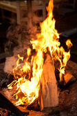 Burning flame or fire indoor — Stock Photo