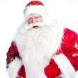 "Traditional Santa Claus giving a big ""ho ho ho"" belly laugh. Iso — Stock Photo #7039548"