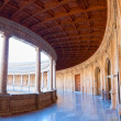Charles V palace gallery on second floor. Alhambra, Granada, Spa — Stock Photo
