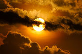 Sun and cloud — Stockfoto