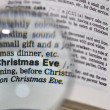 Stock Photo: Christmas Eve Magnified