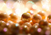 Beads background for christmas II — Stock Photo