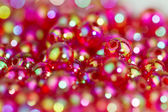 Red beads background II — Stock Photo
