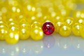 Red and Yellow Beads Background III — Stock Photo