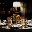 A decorated christmas dining table — Stock Photo #6973345