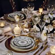 A decorated christmas dining table — Foto de Stock