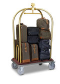 Hotel baggage cart isolated on white background — Stock Photo