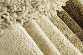 Amostras de cor de um carpete — Foto Stock