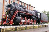Steam locomotive, Butterfly — Stock Photo