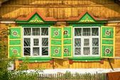 House in the Siberian village — Stock Photo
