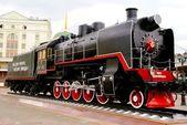 Parní lokomotiva, motýl — Stock fotografie