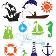 Sea icons - Stock Vector