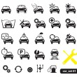 Stockvektor : Car service icons, set