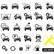 图库矢量图片: Car service icons, set
