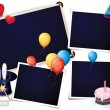 Birthday party photo frames — Stock Vector #7587998