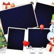 Stock Vector: Xmas photo frames