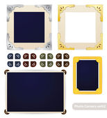 Vintage photo frames and corners — Stock Vector