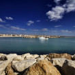 Italy, Sicily, Mediterranean Sea, the port of Scoglitti — Stock Photo