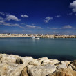 Italy, Sicily, Mediterranean Sea, the port of Scoglitti - Stock Photo